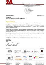 2A Asia Architecture Award 2015(イスタンブール)あんしん館コミュニティホール武庫之荘がショートリストに選出されました。